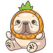 French Bulldog PIGU-Animated Sticker IX Sticker for LINE & WhatsApp | ZIP: GIF & PNG