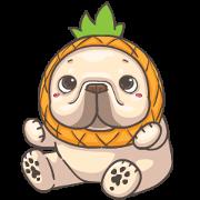 French Bulldog PIGU-Animated Sticker IX Sticker for LINE & WhatsApp | ZIP: GIF & PNG