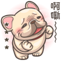 French Bulldog PIGU-Custom Stickers I Sticker for LINE & WhatsApp | ZIP: GIF & PNG