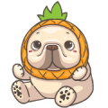 French Bulldog PIGU- Sticker III Sticker for LINE & WhatsApp | ZIP: GIF & PNG