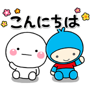 Friendly Shiromaru! With Meiji Yasuda Sticker for LINE & WhatsApp | ZIP: GIF & PNG