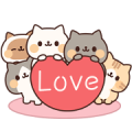 Full of Cats Animated Stickers 2 Sticker for LINE & WhatsApp   ZIP: GIF & PNG