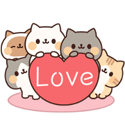 Full of Cats Animated Stickers 2 Sticker for LINE & WhatsApp | ZIP: GIF & PNG