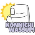 GHOSTY's COMIC: Japanglish Sticker for LINE & WhatsApp | ZIP: GIF & PNG