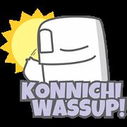 GHOSTY's COMIC: Japanglish Sticker for LINE & WhatsApp | ZIP: GIF & PNG