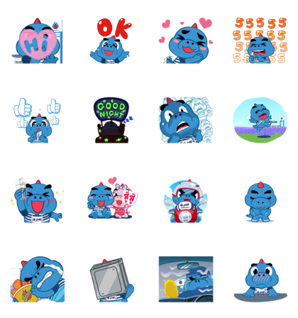 Godji: Cute Emotion Line Sticker GIF & PNG Pack: Animated & Transparent No Background | WhatsApp Sticker
