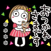 Hanako Custom Stickers Sticker for LINE & WhatsApp | ZIP: GIF & PNG