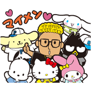 Hello Mandy × SANRIO CHARACTERS Sticker for LINE & WhatsApp | ZIP: GIF & PNG