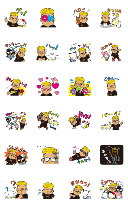 Hello Mandy × SANRIO CHARACTERS Line Sticker GIF & PNG Pack: Animated & Transparent No Background | WhatsApp Sticker