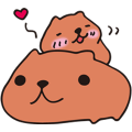 KAPIBARA-SAN & Friends Sticker for LINE & WhatsApp | ZIP: GIF & PNG
