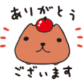 KAPIBARASAN Sticker for LINE & WhatsApp | ZIP: GIF & PNG