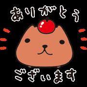 KAPIBARASAN Sticker for LINE & WhatsApp | ZIP: GIF & PNG