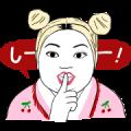 Kasumi & Naomi BareSkinChat sticker Sticker for LINE & WhatsApp | ZIP: GIF & PNG