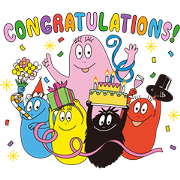 LINE Bubble 2 × BARBAPAPA Sticker for LINE & WhatsApp | ZIP: GIF & PNG