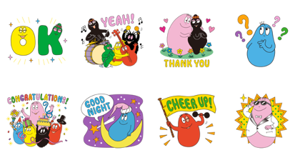 LINE Bubble 2 × BARBAPAPA Line Sticker GIF & PNG Pack: Animated & Transparent No Background | WhatsApp Sticker