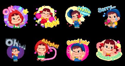 LINE CHEF × Peko-chan Line Sticker GIF & PNG Pack: Animated & Transparent No Background   WhatsApp Sticker
