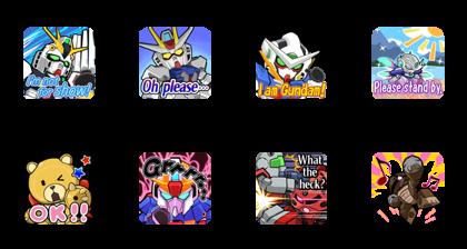 LINE: GUNDAM WARS (Type 4) Line Sticker GIF & PNG Pack: Animated & Transparent No Background | WhatsApp Sticker