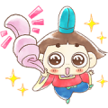 LINE Puzzle tantan × Ojarumaru Sticker for LINE & WhatsApp | ZIP: GIF & PNG