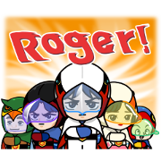 LINE Rangers × GATCHAMAN Sticker for LINE & WhatsApp | ZIP: GIF & PNG