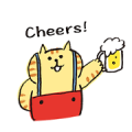 Lazy Nyansuke: Moving On Sticker for LINE & WhatsApp | ZIP: GIF & PNG