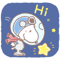 Lovely SNOOPY and Friends: Astronauts Sticker for LINE & WhatsApp | ZIP: GIF & PNG