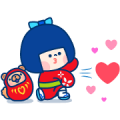 Mi Chan& Puppy Sticker for LINE & WhatsApp | ZIP: GIF & PNG
