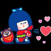 Mi Chan& Puppy Sticker for LINE & WhatsApp | ZIP: GIF & PNG