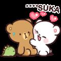 Milk & Mocha: Custom Stickers Sticker for LINE & WhatsApp | ZIP: GIF & PNG
