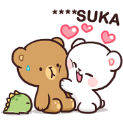 Milk & Mocha: Custom Stickers Sticker for LINE & WhatsApp | ZIP: GIF & PNG