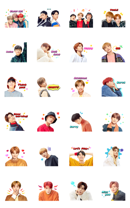 NCT 127 SPECIAL Line Sticker GIF & PNG Pack: Animated & Transparent No Background | WhatsApp Sticker