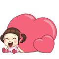 Neneng Gesrek : Back With Love! Sticker for LINE & WhatsApp | ZIP: GIF & PNG