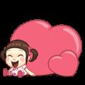 Neneng Gesrek : Back With Love! Sticker for LINE & WhatsApp   ZIP: GIF & PNG