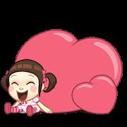 Neneng Gesrek : Back With Love! Sticker for LINE & WhatsApp | ZIP: GIF & PNG