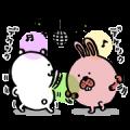POKOPANG TOWN × JIBUN TSUKKOMI KUMA Sticker for LINE & WhatsApp | ZIP: GIF & PNG