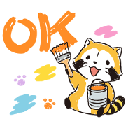 Painting Rascal Sticker for LINE & WhatsApp | ZIP: GIF & PNG