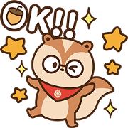 Pcone × A-SONG The Squirrel 16 Stickers Sticker for LINE & WhatsApp | ZIP: GIF & PNG
