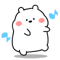 Plo: Chubby White Bear Sticker for LINE & WhatsApp | ZIP: GIF & PNG