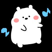 Plo: Chubby White Bear Sticker for LINE & WhatsApp | ZIP: GIF & PNG