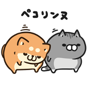 Plump Dog&Cat×livedoor NEWS Sticker for LINE & WhatsApp | ZIP: GIF & PNG
