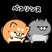 Plump Dog&Cat×livedoor NEWS Sticker for LINE & WhatsApp | ZIP: GIF & PNG