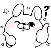 Rabbit100% × d magazine Sticker for LINE & WhatsApp   ZIP: GIF & PNG