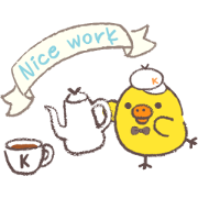 Rilakkuma~Kiiroitori muffin cafe~ Sticker for LINE & WhatsApp | ZIP: GIF & PNG
