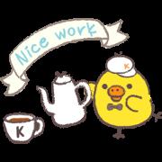 Rilakkuma~Kiiroitori muffin cafe~ Sticker for LINE & WhatsApp | ZIP: GIF & PNG