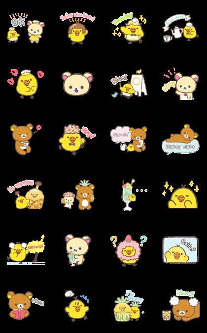 Rilakkuma ~Kiiroitori muffin cafe~ Line Sticker GIF & PNG Pack: Animated & Transparent No Background | WhatsApp Sticker