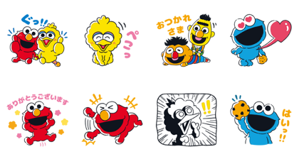 Sesame Street × LINE Score Line Sticker GIF & PNG Pack: Animated & Transparent No Background | WhatsApp Sticker