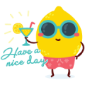 Summer Breeze Music Sticker Sticker for LINE & WhatsApp | ZIP: GIF & PNG