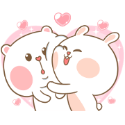 Sweet Marshmallow Couple 2 Sticker for LINE & WhatsApp | ZIP: GIF & PNG
