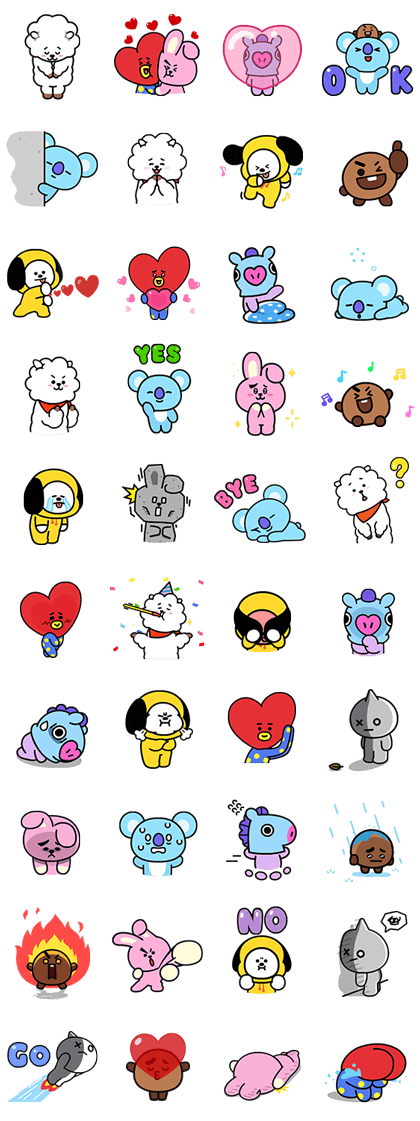 UNIVERSTAR BT21: Animated Special Line Sticker GIF & PNG Pack: Animated & Transparent No Background | WhatsApp Sticker