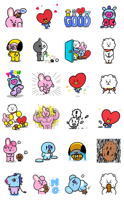 UNIVERSTAR BT21: Cuteness Overloaded! Line Sticker GIF & PNG Pack: Animated & Transparent No Background | WhatsApp Sticker
