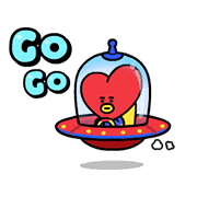 UNIVERSTAR BT21: Scene Stealer Sticker for LINE & WhatsApp | ZIP: GIF & PNG